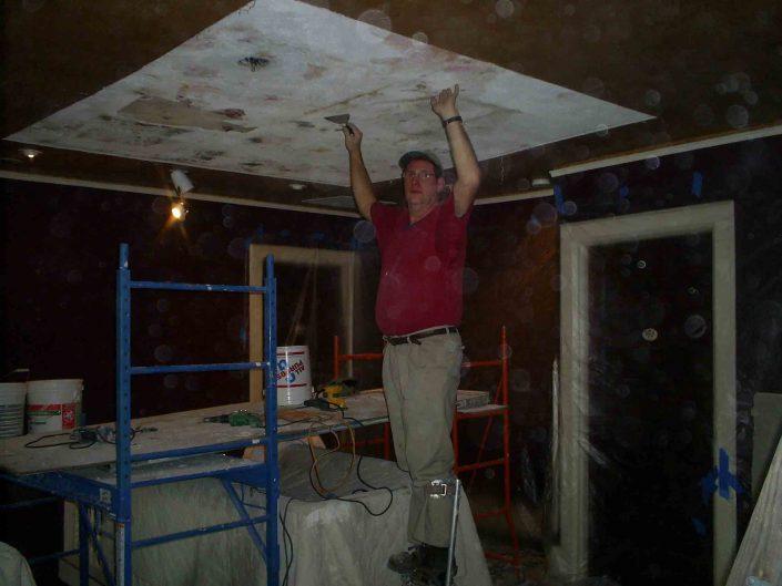 Ceiling Restoration at The Black Walnut Bed and Breakfast Inn